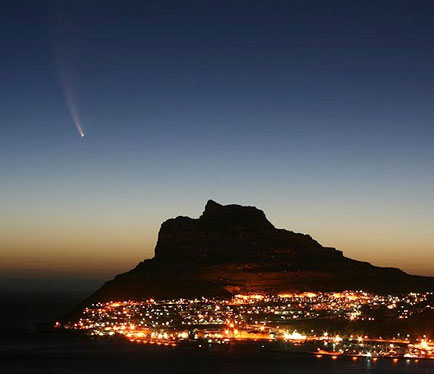 Comet McNaught in Cape Town