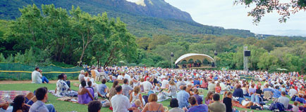 Open air concert at Kirstenbosch