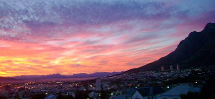 Sunrise over Cape Town - 31 May 2007