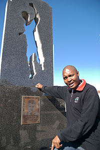 Excursion leader Lizo Ndzabela